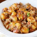 One pot Cheeseburger Gnocchi paired with Petit Verdot photo