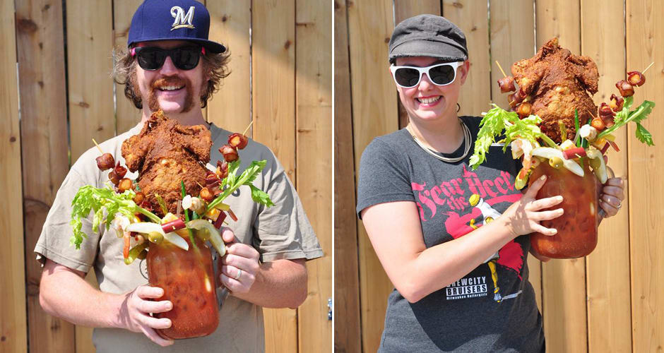 This Bloody Mary Has a Whole Fried Chicken In It photo