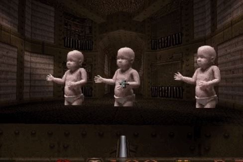 Somebody Has Turned The Famous Dancing Baby Gif Into A Quake Sprite, And Why Not? photo