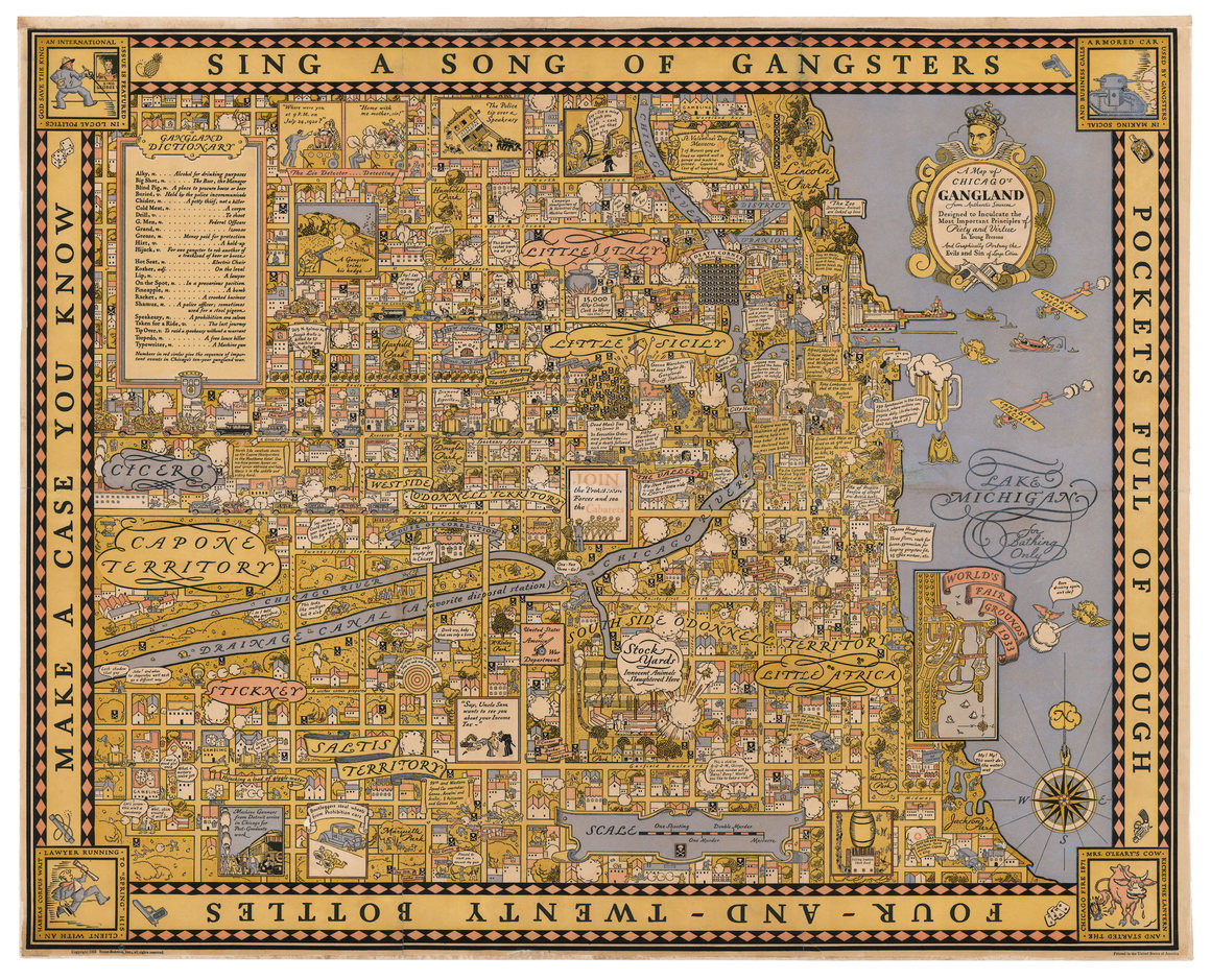 How Many Liquor Bottles Can You Find in This 1931 Map of Chicago? photo