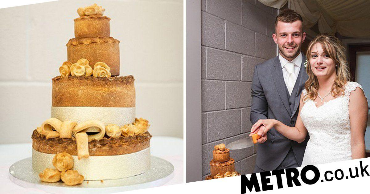 Couple Ditch The Traditional Wedding Cake For One Made Entirely Out Of Pork Pies photo