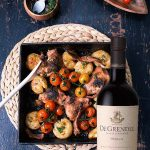 Chicken, Bacon and Potato Tray Bake with De Grendel Merlot photo