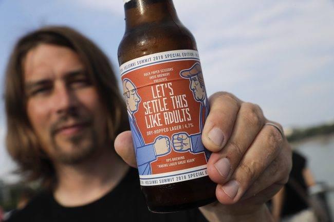 ?making Lager Great Again?: Finnish Craft Beer Pokes Fun At Trump-putin Summit photo