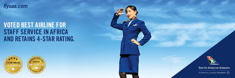 South African Airways (saa) Voted Best Airline Staff In Africa photo