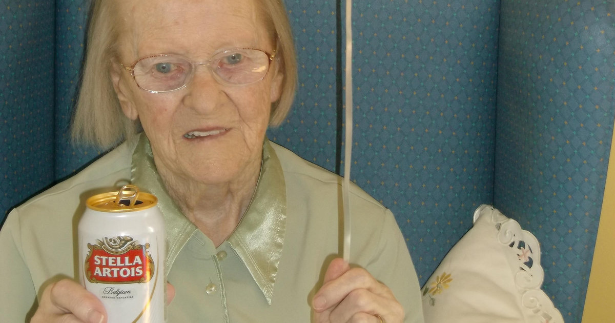 Stella Artois And Custard Creams Are The Secret To A Long Life, Says 100-year-old photo