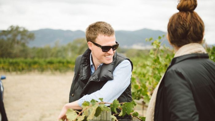 Rory Kent The Founder Of The Young Gun Of Wine Awards Touring The Vineyards With Some Of The Finalists From The 2018 Awards photo