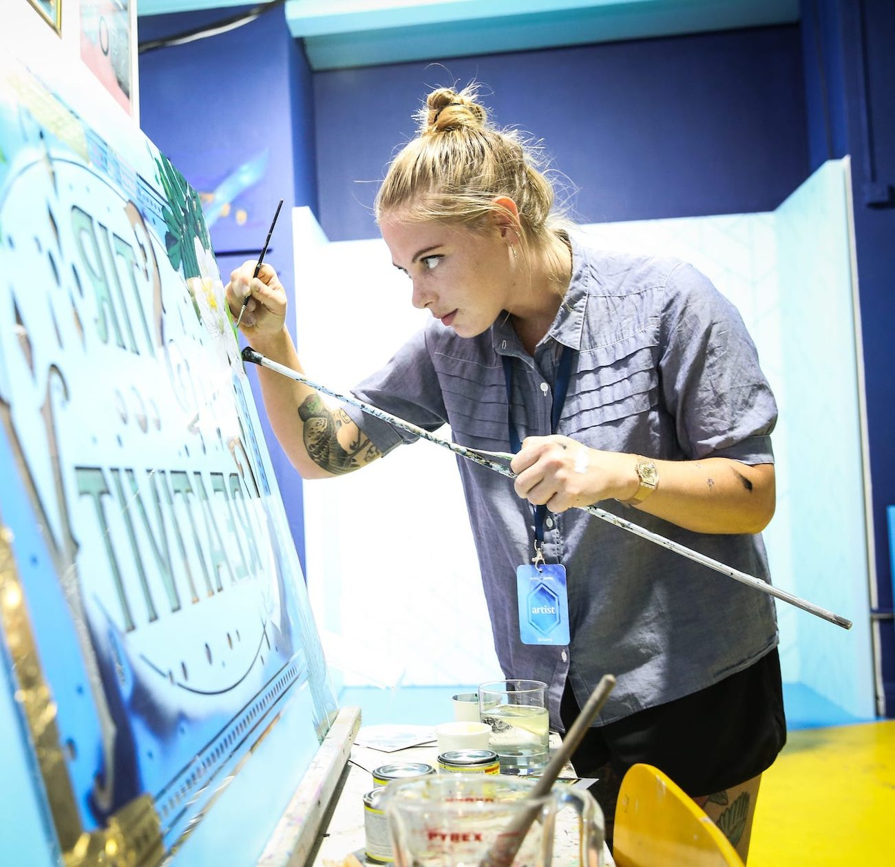 Bombay Sapphire Canvas Event photo