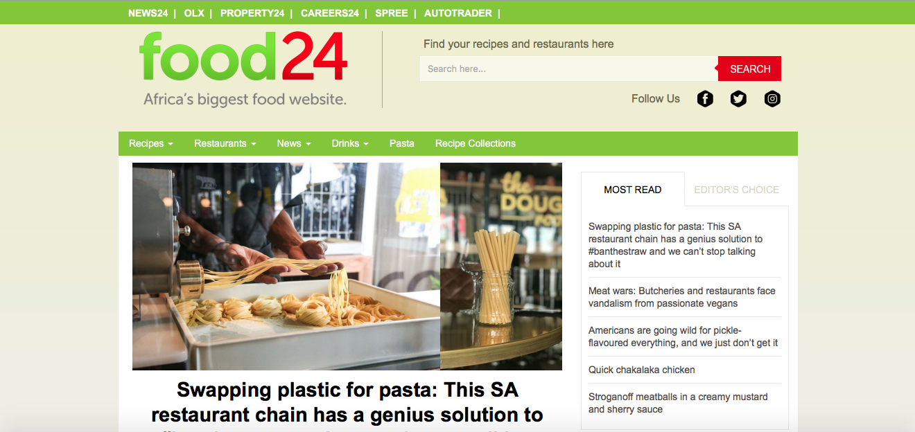 Food24.com And Eatout.co.za To Join Forces photo