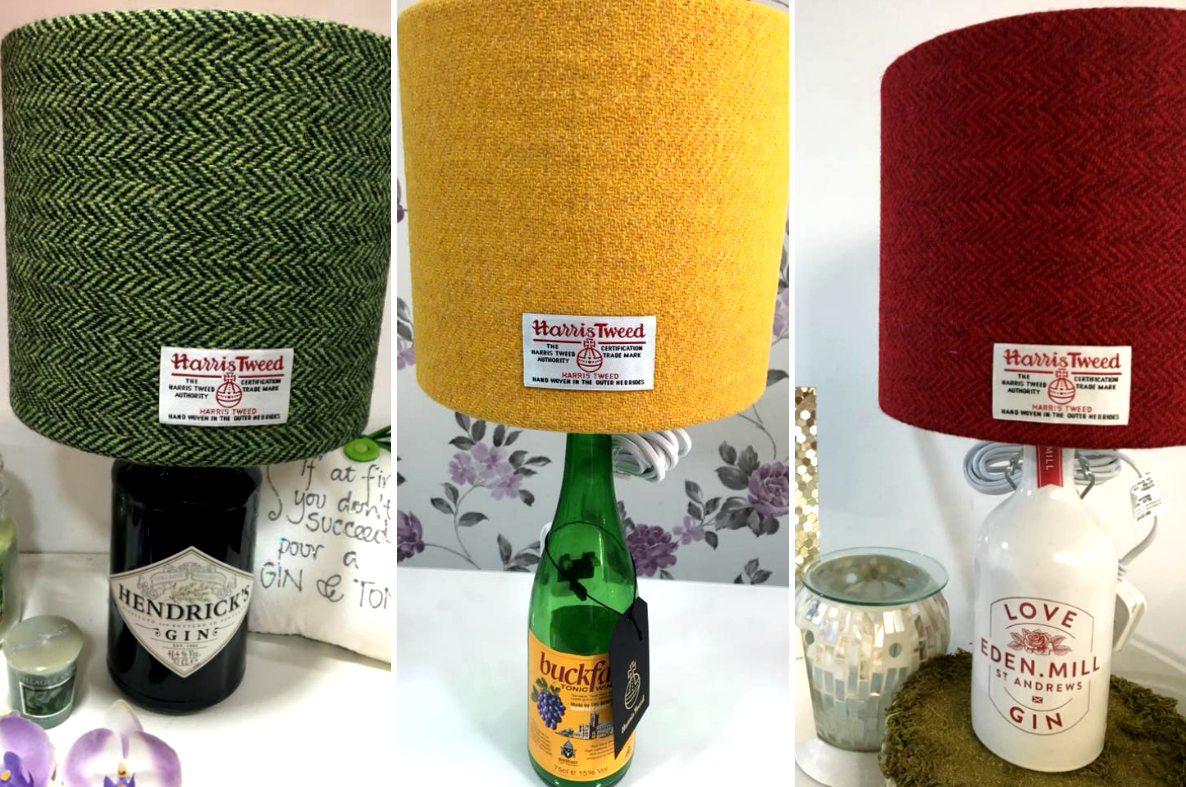 Shoppers Going Wild For These Gin And Buckfast Lamps With Harris Tweed Shades photo