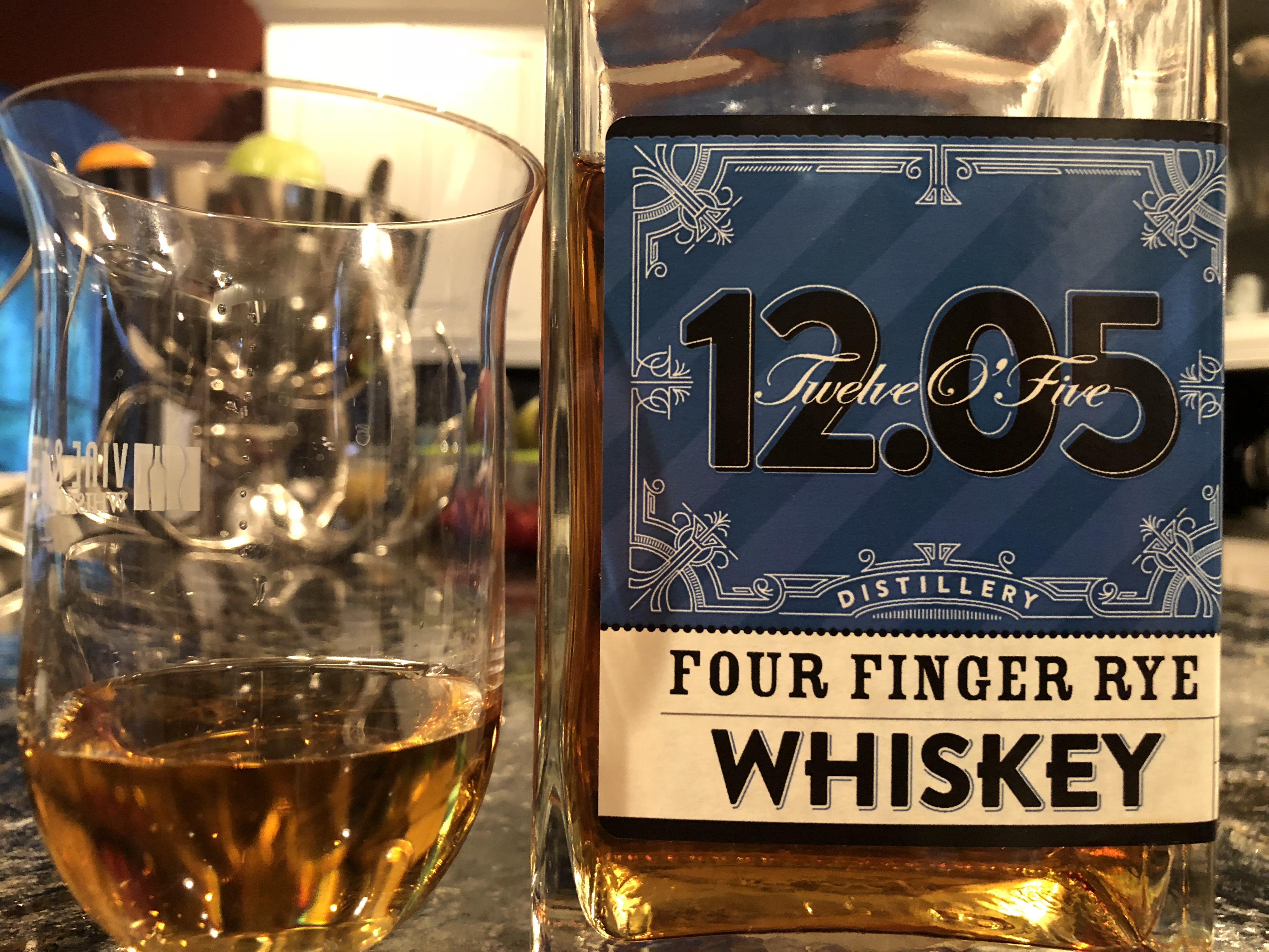 Twelve O?five Four Finger Rye Whiskey photo