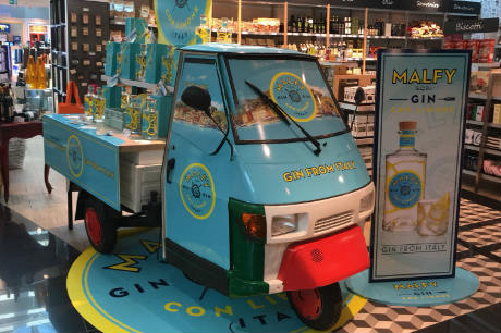 Malfy Gin In First Df&tr Activation At Rome Airport photo