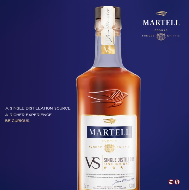 Pernod Ricard Launches Martell Cognac France Vs Single Distillery photo