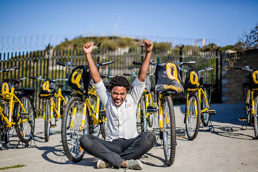 Siyabonga Mbaba of Khayelitshas Ride2Empower LR Nederburg Presents: Stories with Phil Liggett