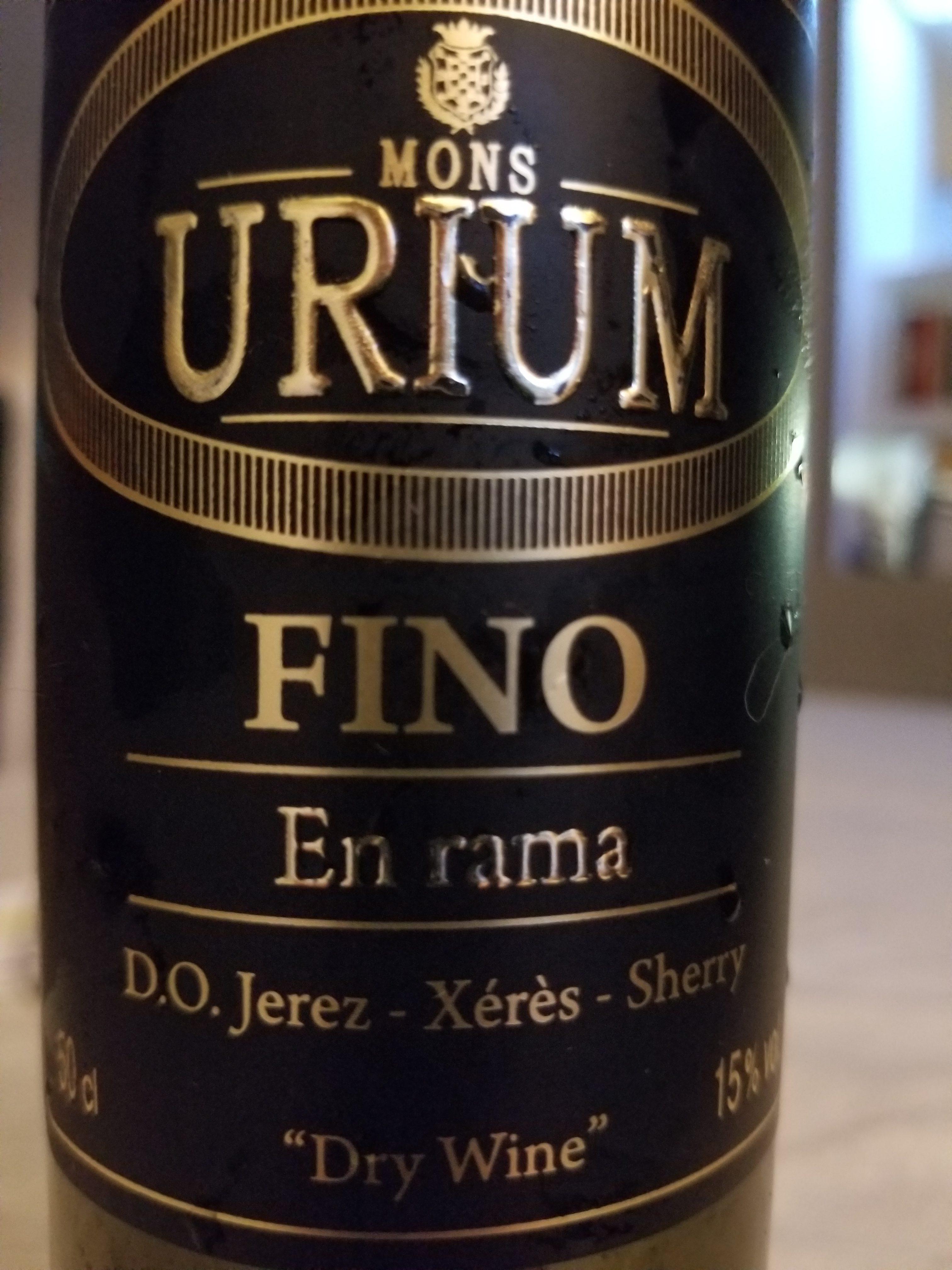"Mons Urium Fino En Rama ""dry Wine"" photo"
