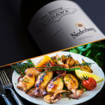 Calamari with potatoes and piment d'Espelette photo