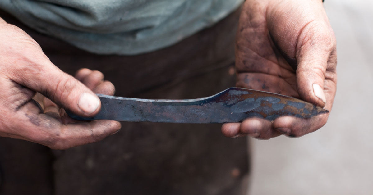 Conrad Hicks: Blacksmith. Toolmaker. Artist. photo
