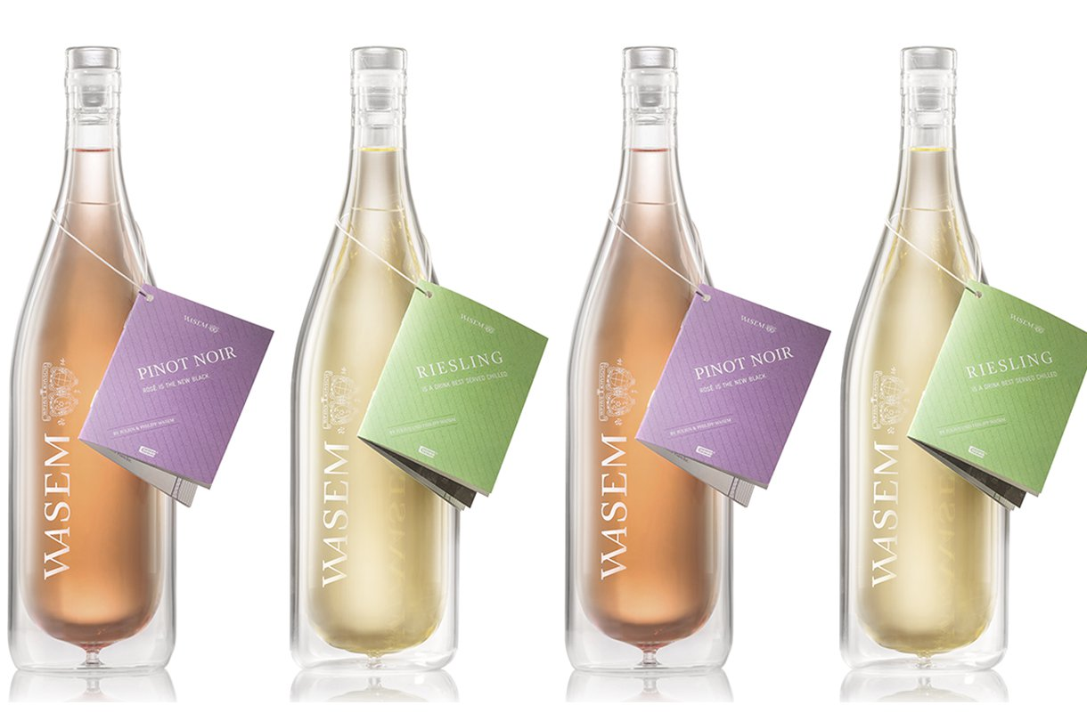Cooleo launches world's first double-layered wine bottle photo