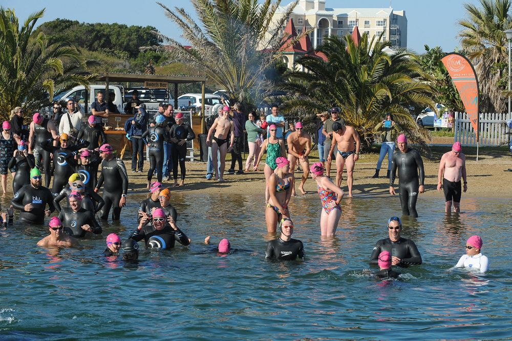 Icy Water And Sunny Skies For Cold Water Swim Classic photo