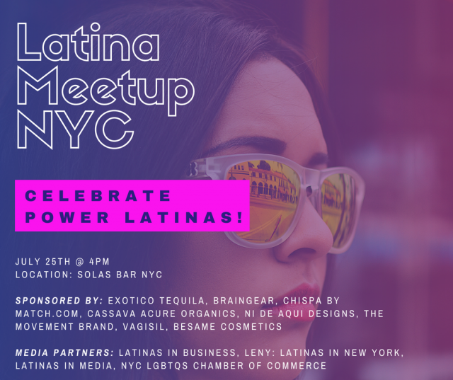 Over 100 Power Latinas Will Gather For Latinameetup's New York City Event On Wednesday, July 25th At photo