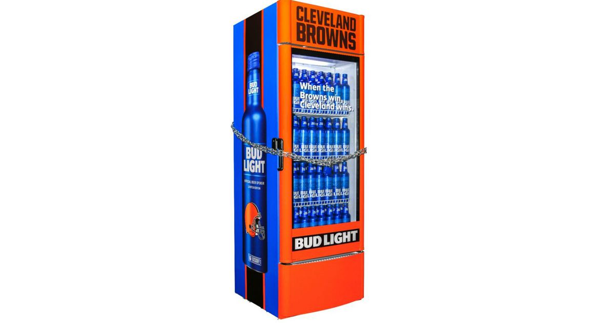 Free Beer! But Wait, This Smart Fridge Only Opens If Cleveland Browns Win. photo