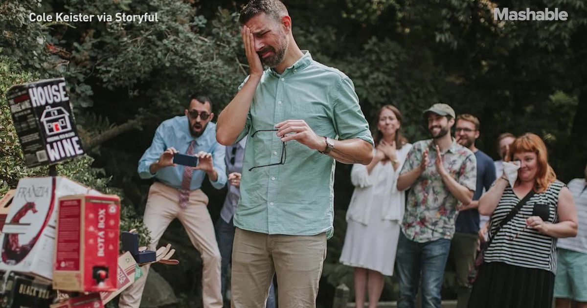 This Man Got Engaged To Boxed Wine And We Can't Even Get A Text Back photo