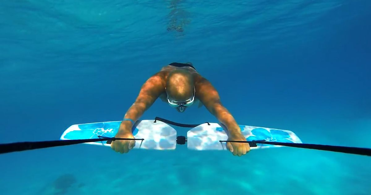 Glide Effortlessly Through The Ocean With These Underwater Wings photo