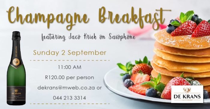 Champagne Breakfast At De Krans Wine Estate photo