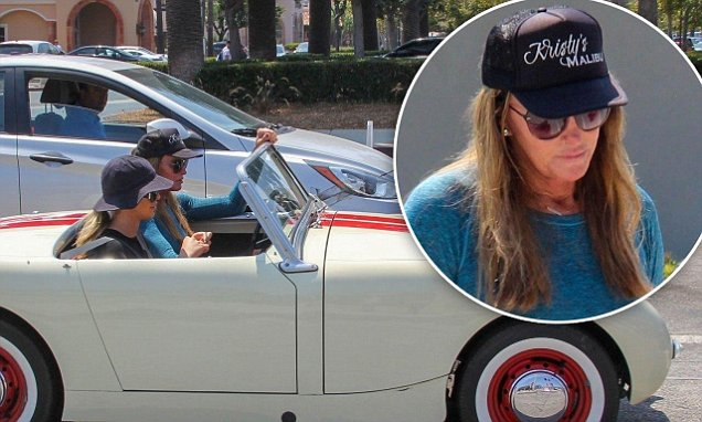 Caitlyn Jenner Takes Sophia Hutchins For A Drive In Her Vintage Car photo