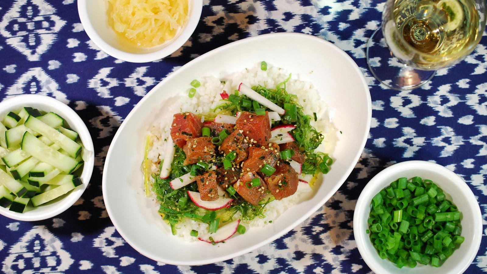 8 & $20 Recipe: Spicy Tuna Poke Bowl photo