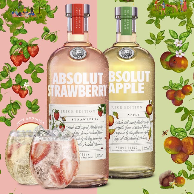 Absolut Launch Vodka With Real Fruit Juice And Only 54 Calories photo