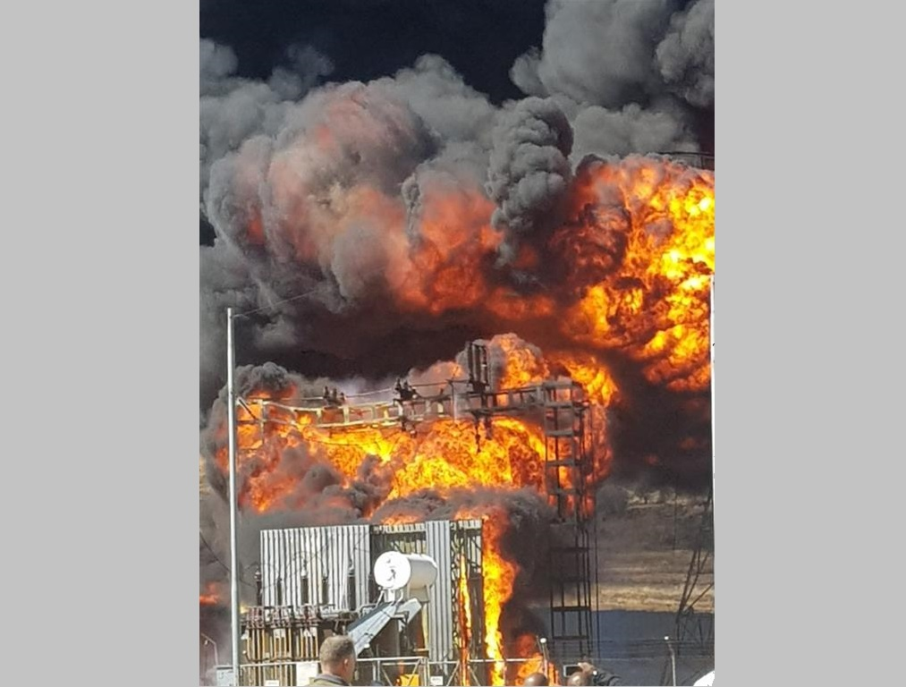 Water Update: Fire At Eikenhoff Sub- Station photo