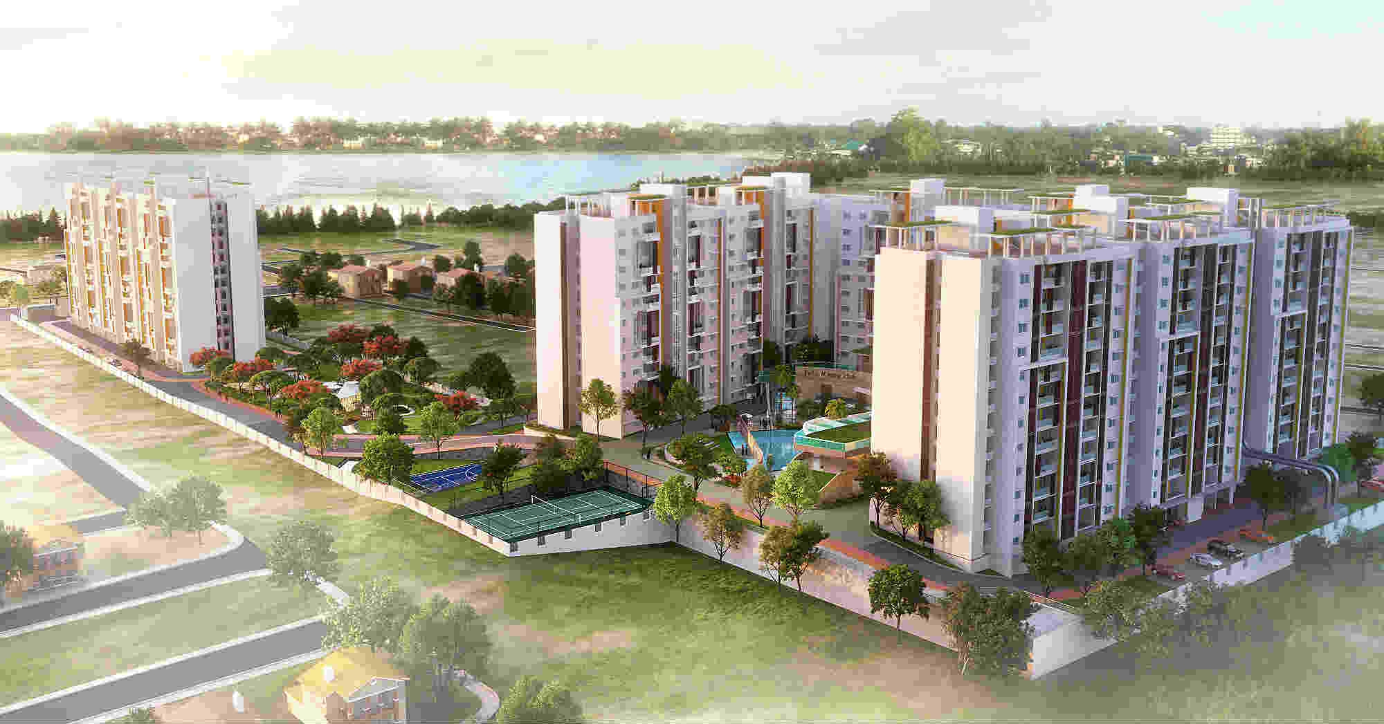 Shriram Blue Apartments in East Bangalore photo