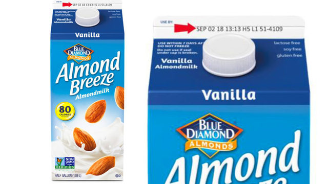 Almond Breeze Almond Milk Recalled, Could Contain Real Milk  photo