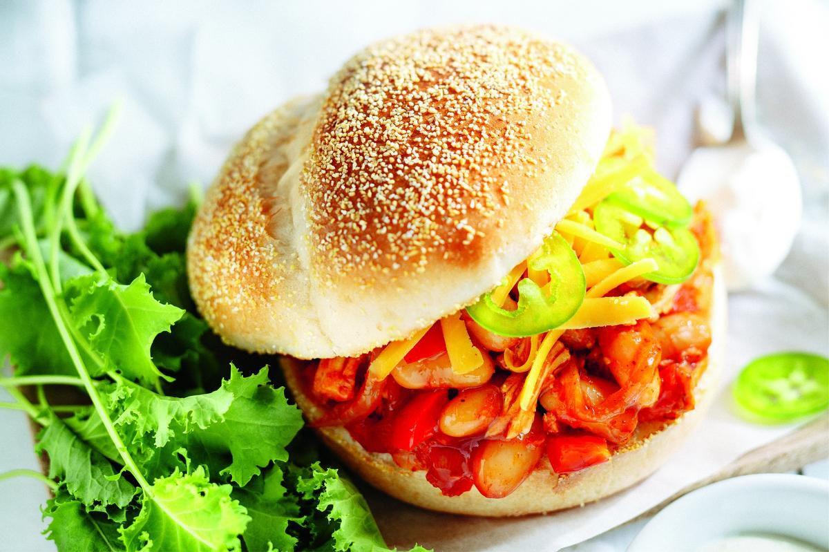 White Bean And Chicken Chili Burger photo