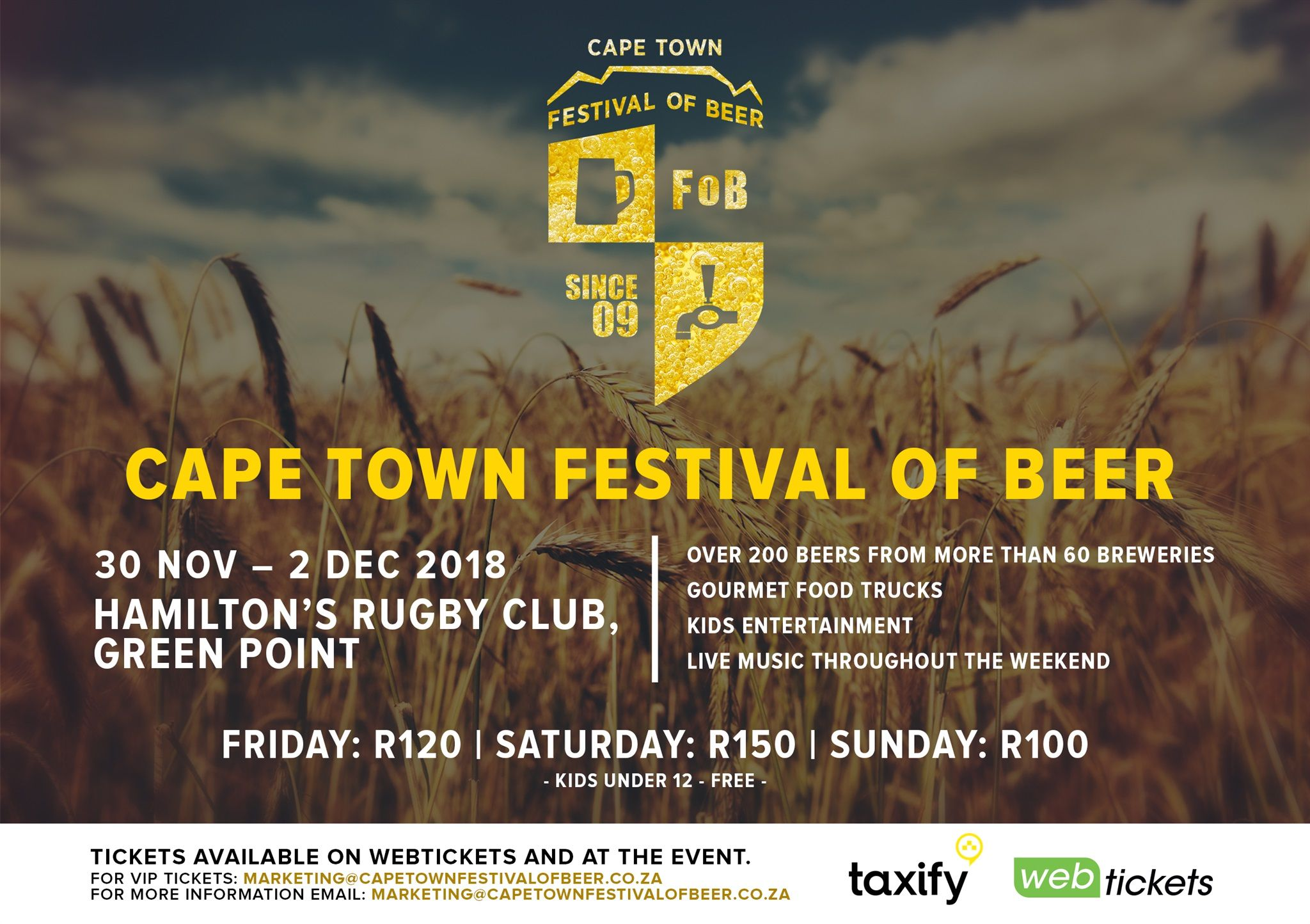 What's On The 2018 Cape Town Festival Of Beer photo