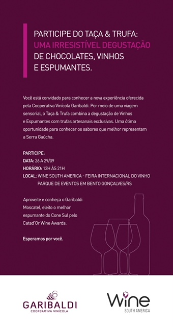 Cooperativa Vinícola Garibaldi Convida: Viva Uma Nova Experiência Na Wsa photo