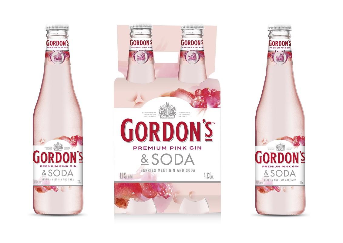 Diageo Extends Rtd Range With Gordon?s Pink & Soda photo