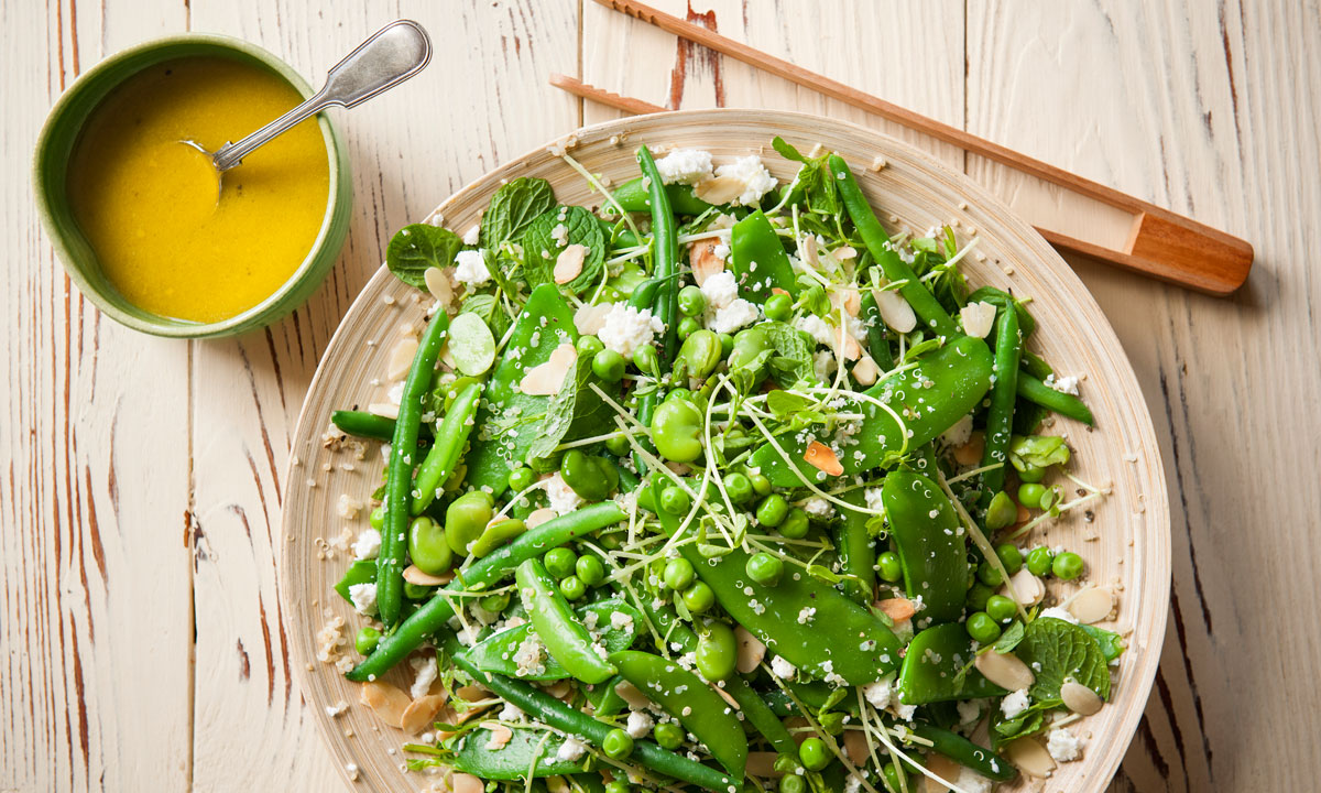Green Salad With Quinoa, Lemon, Feta & Mint photo