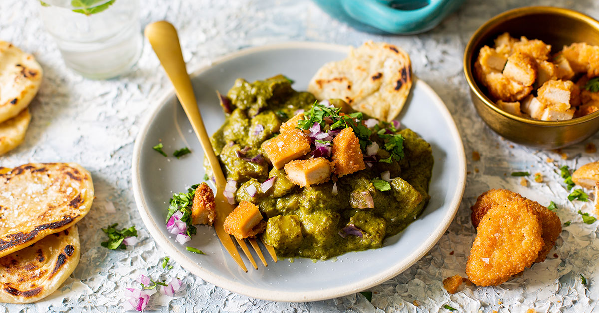 Green Veggie And Quorn Curry With Mini Parathas photo