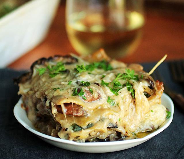 Mushroom and Spinach Lasagna photo
