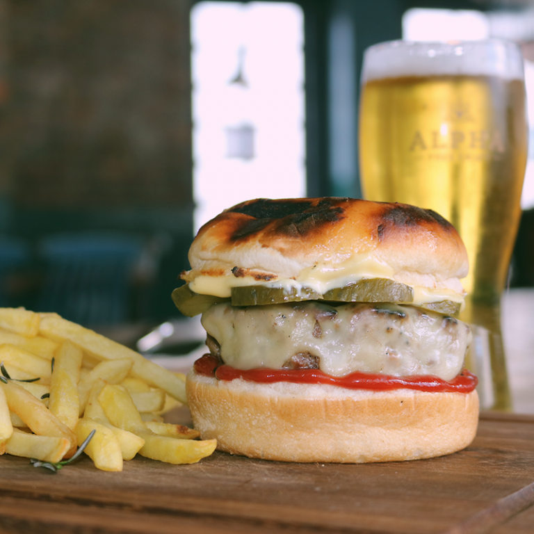 Cheeseburger and beer for R75 photo