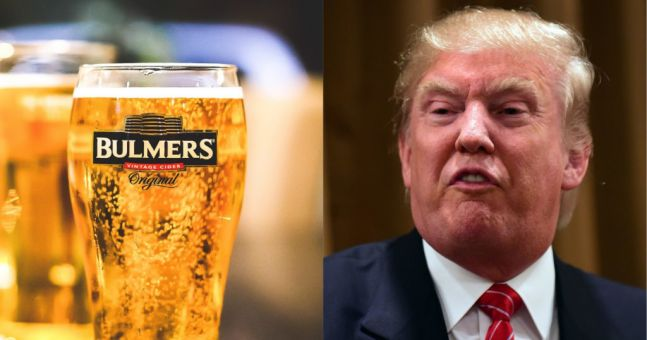 Bulmers Irish Cider Mocks Trump Over 'cancelled' Ireland Visit photo