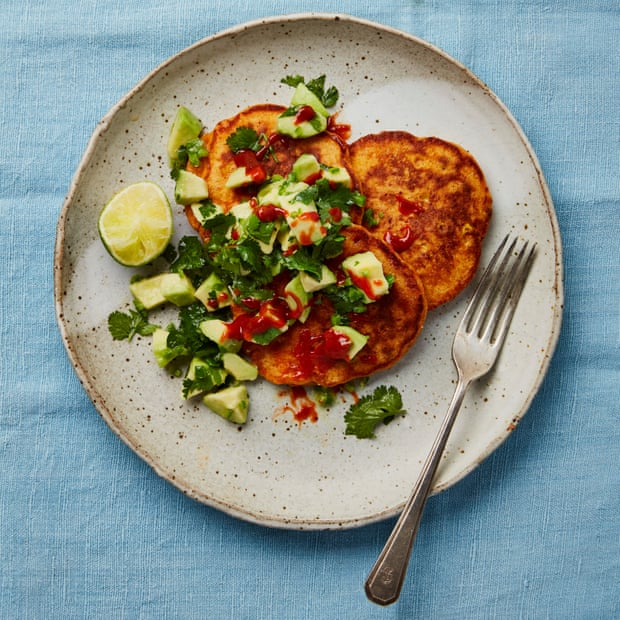 Red Pepper, Corn and Sriracha Pancakes by Yotam Ottolenghi photo