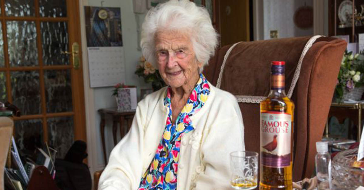 The Secret To Living To 112 Years Old Is Whisky, Says Oldest Person In Britain photo