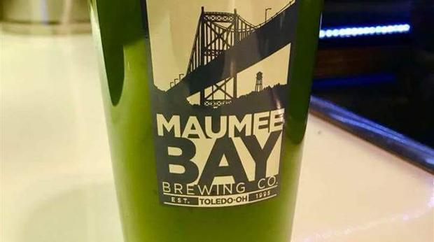A Green Beer That Looks Like Algae photo