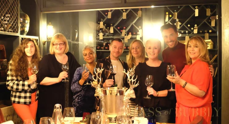 Hollyoaks Stars Enjoy A Masterclass In Fizz With Glass Of Bubbly photo