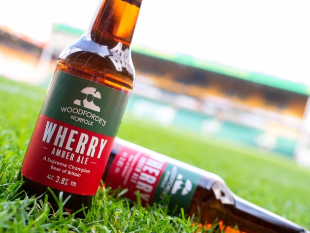 Woodforde's Flagship Ale Makes Plastic Bottle Debut At Norwich City Football Club photo