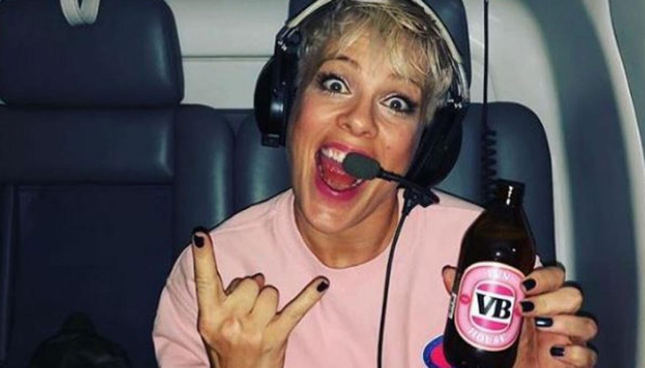 Pink Gets Her Own Slab Of Personalised Vb Beer photo