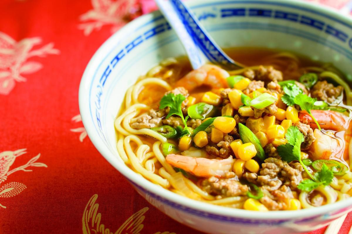 Enjoy A Little Surf And Turf With This Ground Pork And Shrimp Ramen Soup photo