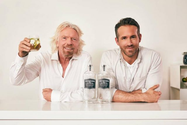 Actor Ryan Reynolds Signs Gin Deal With Richard Branson photo
